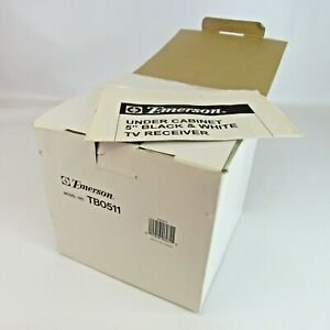 """Emerson Under Cabinet 5"""" Black & White TV NEW Old Stock Television Model TB0511"""