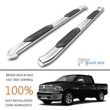 """4"""" Curved Nerf Bar Step Running Board For 2010-2017 Dodge RAM 2500 3500 Crew Cab"""