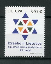 Lithuania 2017 MNH Diplomatic Relations Israel 25 Years 1v Set Diplomacy Stamps