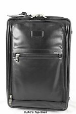 Tumi New Alpha Expandable International Leather 2-Wheel Carry on Black 92220DH