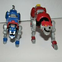 Lot of 2 Voltron Action Figures - Red Lion & Blue Lion (Playmates, 2017)
