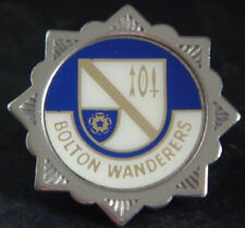 BOLTON WANDERERS Vintage 1970s insert type badge Brooch pin In chrome 33mm Dia