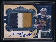 AUSTIN PETTIS 2011 PLAYOFF NATIONAL TREASURES PATCH RC AUTO 77/99 ST. LOUIS RAMS