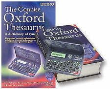 Seiko ER2100 Concise Electronic Oxford Thesaurus Spellchecker Crossword Solver