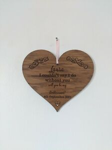 I couldnt say I do without you, Bridesmaid proposal, personalised Bridesmaid