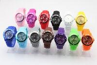 ASAMO Damen und Herren Silikon Armbanduhr 43 mm Uhr in vielen Farben AMA030