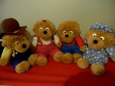 Vintage Berenstain Bears Complete Plushie Set, Lot of 4