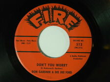 Don Gardner & Dee Dee Ford 45 DON'T YOU WORRY / I'M COMING HOME TO... ~ Fire VG+