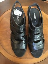 Aerosoles Women Dress Sandal Black Leather Size 11 M
