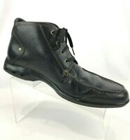 Cole Haan Mens 10M Black Chukka Boots Pebbled Leather Nik Air Soles