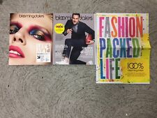 3 Bloomingdale's October Catalogs Fashion 2017 Lot Sale Home Men's Fall