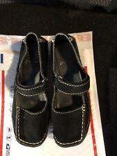 "Shoes, YELLOW BOX,black  genuine suede, square toe, 2"" wedge SZ: 7M"