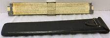 VTG 1947 Keuffel & Esser K&E N4081-3 Log Log Duplex Decitrig Slide Rule w/Case