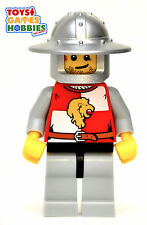 *NEW* LEGO x1 Castle Minifig Lion Knight Quarters Red Kingdoms Minifigure Chess