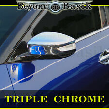 Fits 2016-2017 NISSAN MAXIMA Triple ABS Chrome Mirror COVERS WITH TURN SIGNAL