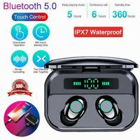 TWS Earbuds Bluetooth 5.0 Mini Headset Wireless Earphones Stereo IPX7 Waterproof
