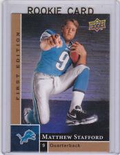 Matthew Stafford RC 2009 Upper Deck 1st Edition ROOKIE CARD Detroit Lions LE!