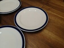 Ikea Set Of 4 Blue White Stripe Bread And Butter Side Plates Almhult S-343 81