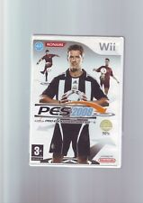 PRO EVOLUTION SOCCER 2008 - PES NINTENDO Wii GAME / Wii U - COMPLETE WITH MANUAL
