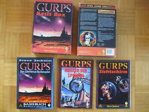 Gurps Basis Set Box - komplett sehr gut erhalten - Komplettregeln 2 Sichtschirme