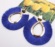 Fashion Women's Boho Long Tassel Fringe Drop Dangle Hook Hoops Ear Stud Earrings