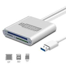 USB 3.0 Multi Card Reader Adapter for Micro SD / SD / SDXC / SDHC / CF - PC Mac