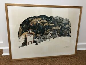 'Georgetown, Colorado' Signed Limited Edition Lithograph by Paul Hogarth