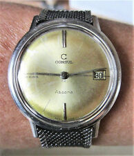 Gents 1960s SS Consul Ascona 1440 Automatic 30 Jewels Date Watch AS1700 Serviced