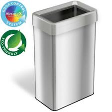 21 Gal. Rectangular Open Top Commercial Grade Stainless Steel Trash Can  Recycle