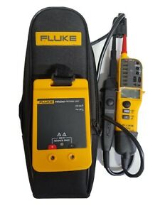 Fluke T150 Voltage and Continuity Tester, proving unit PRV240 & case.