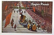 1957 SEATTLE SEAFAIR PARADE postcard hydroplane BOAT racing