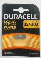 4 x Duracell 357 / 303 Silver Oxide batteries 1.5V LR44 AG13 A76 SR44 V303