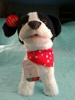 "NWT 10"" HALLMARK LOVE TO THE MAX PUP Animated Plush Spins, Barks, Pants, & Talks"