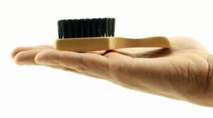 Skin Fade Wave Mini Club Hair Brush 100% Reinforced Boar Bristles Hard