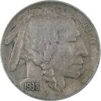 1938 D 5c Indian Head Buffalo Nickel US Coin XF EF Extremely Fine
