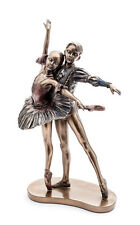 Bronze Pair Of Ballet Dancers Figurine By Katz Christmas Birthday Gift KDFIG-9