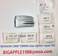 Ronson 1960~1980th Vintage Gas Lighter repair Kit R2-b Free Youtube DIY Video 5