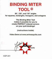 Binding Miter Tool (Acrylic)Sewing, Crafting, DIY, Animas Quilts Ruler Quilting