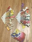 #7 Vintage 1980s Bell Charm Plastic Clip 24 Pc Necklaces charms lot Jewelry 80's