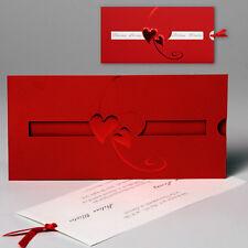 Edle Hochzeitskarten mit Umschlag Einladung zur Hochzeit Karten Hochzeitskarte