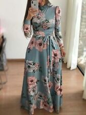 Dresses Loose Floral Dress Womens Party Cocktail Long Sleeve Maxi Tunic Evening