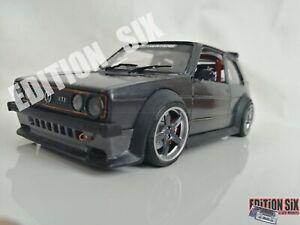 Burago 1/24 VOLKSWAGEN GOLF GTI Racing BBS Kit Custom Classic Diecast car