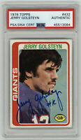 1978 GIANTS Jerry Golsteyn signed card Topps #432 PSA/DNA AUTO Autographed QB