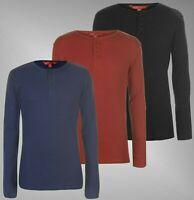 Mens Eastern Mountain Sports Long Sleeves Waffle Henley T Shirt Sizes S-XXXL