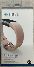 ✅ Fitbit Charge 2 Leather Accessory Band Blush Pink Small