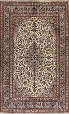 Excellent Vintage Floral IVORY Ardakan Area Rug Wool Hand-Knotted Bedroom 6'x9'