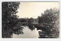 RPPC REAL PHOTO POSTCARD MINNESOTA ROCHESTER MAYO PARK BRIDGE OVER WATER