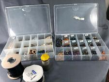 Glass Art Beads Findings Purple Blue Yellow Gold Green 2 Rolls Cord Earrings Art