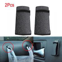 2PCS Black Car Interior Leather Clip Holder Sticker For Card Glasses Handbag