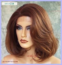 Lace Front Wig HAND TIED FRONT CLR P4.27.30 SOFT SEXY LAYERED BOB US SELLER 1135